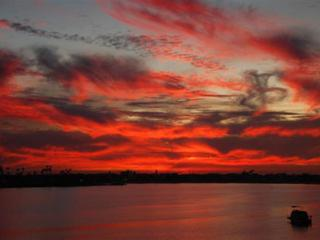 Another beautiful San Diego sunset taken from our Law St properties - Nancy's Vacation Rentals