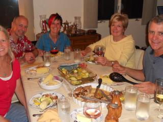 Mary,Bruce, Toni, Melissa, & Chris, the Batten family owners, dining together at Vista Country Home - Bruce, Toni, Chris, Melissa, and Mary Batten