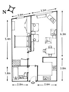 Floorplan: The Arc apartment -  Tricia and Jan, Edinburgh Self Catering