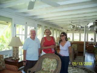 Terry, our friend Nancy, and June - Terry and June Crookes