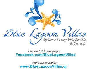 LOGO with info - John Pappas  & The Blue Lagoon Villas Crew