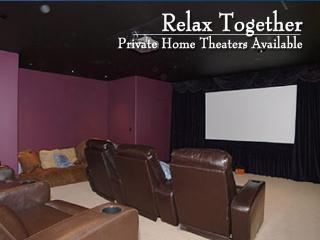 Private movie theaters in select homes - Utah's Best Vacation Rentals