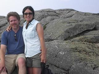 On top of Whiteface Mt with Barry - Ms. Shawn Halperin
