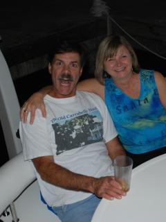 Skip and Kathy in relaxation mode onboard! - Skip and Kathy Frink