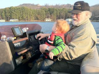 Larry and Grandson Canyon - Becky Beddingfield