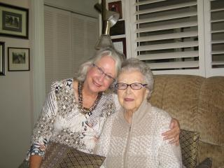 Sue and her Mom...owner of the home  since  it was  built  in1947 - Mary Lee, Owner, Suzanne Meierding, Manager