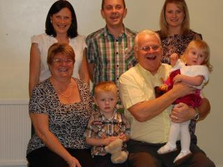 Jan & Mike (seated) with daughters, son-in-law and darling granchildren - Ethan & Chloe - Janice & Mike Gregory