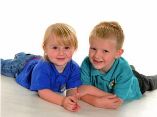 Our darling grandchildren Ethan & Chloe in 2012 - Janice & Mike Gregory