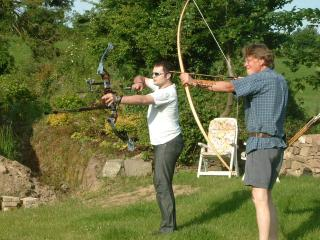 Ben is a member of the local traditional field archery club - Bridie Brittain