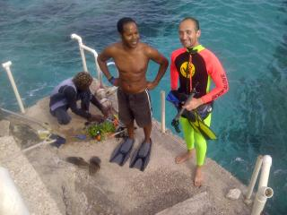 With guest going snorkelling at Villa - Winston Williams