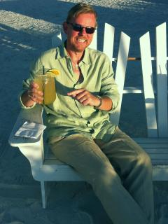 Hans Hansen enjoying a beverage - Jill Hansen
