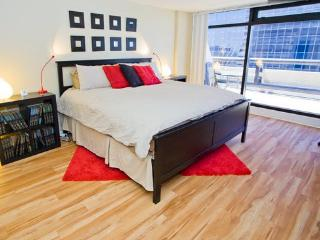 This bedroom is so big, this king size bed looks small - chad