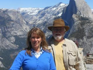 My husband, Tom, and me at Glacier Point - Sherry Nohava