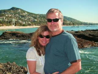 Happy at the beach! - Bridget and Jim Gregerson