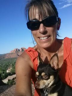Kim and her little pup out for a hike! - Kim