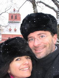 Me and my husband in Moscow - B&B La Canadienne chez Mauzan