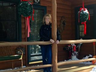On the porch at the cabin, during the cold winter months!! - Norma Miarecki