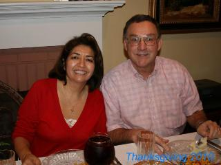 Maria & Bob at Thanksgiving Dinner, 2010 - Maria Tarn