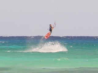 Kite boarders are so much fun to watch from our beach! - KAREN CHRISTNER