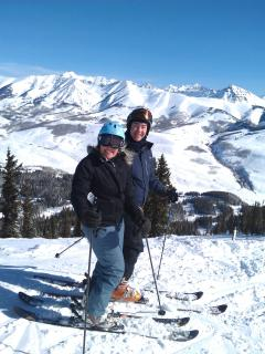 Bluebird day at Crested Butte - Karen Theel and Lee French