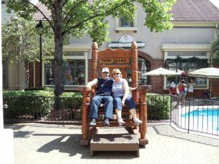 Charles and Brenda in the big chair. - Charles and Brenda Chodrick