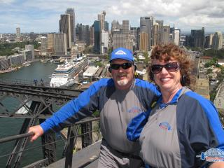 Charles & Brenda-On top of the Harbor Bridge-Sydney Australia-Jan 2013. - Charles and Brenda Chodrick