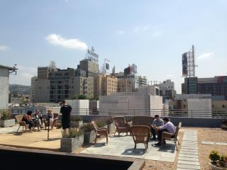 Filming on the Rooftop Deck! - Bed and Bay Residence Inn