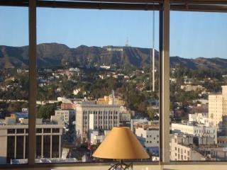 View of the Cosmo Bldg, Restaurant Row and Hollywood Blvd. from the CNN Bldg. - Bed and Bay Residence Inn