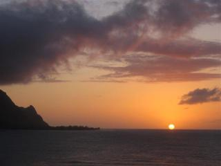 Beautiful sunset on the north shore of Kaua`i - Garden Island Properties LLC