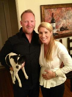 Chris & Wife Stacey (and puppy :-) - CHRISTOPHER BOWERS