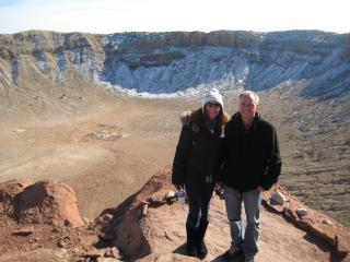 Us in the meteor crater, Arizona - Vicky Young