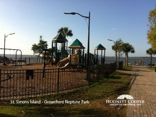 Oceanfront Neptune Park with playground, swimming pool, mini golf, picnic area - Hodnett Cooper Vacation Rentals