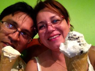 gelato at el coco, really good taste and the owner from Italy - Pilar Garcia