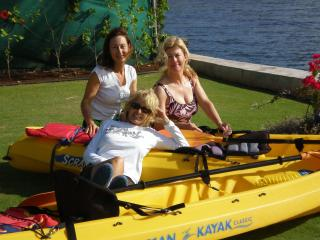 The girls out for a Kayak - Sheridan Eastman