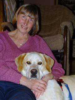 Lynn and Charlie (our new rescue dog) - Lynn Grainger