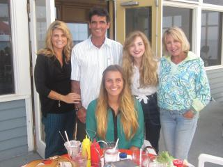 My daughter and son-in-law and granddaughters with me - Sheridan Eastman