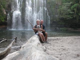 John and Pam condo owners at Llanos waterfall East of Liberia - John from Fitness Fittings LLC or Randy the on-site Century 21 property manager