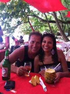 My wife and I at Sosua Beach (RED BAR) - Joe Ruggiero