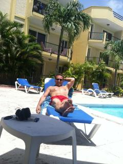 Chilling by the pool - Joe Ruggiero