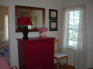 Living room with cable TV and DVD. - The Moxie Oceanfront Luxury Cottage
