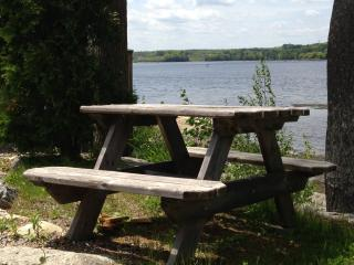 Another picnic table photo. - The Moxie Oceanfront Luxury Cottage