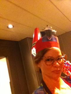 On the Queen Mary 2 in my  hat contest entry! - The Seims