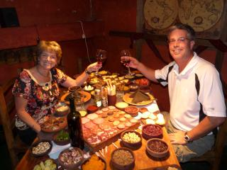 We love to travel, and eat, and drink great wine too!  (Here we are in Mendoza Argentina) - Janice Shallin & Bill Vickers (wife & husband)