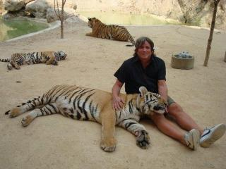 Me at  the Tiger Temple Near Bangkok - Villa Samprasada