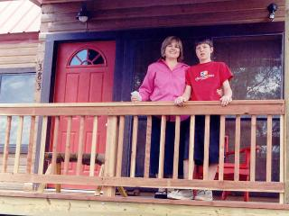 On the Porch of our other Pagosa Cabin - Acorn Cottage - Alpine Haven Cabin