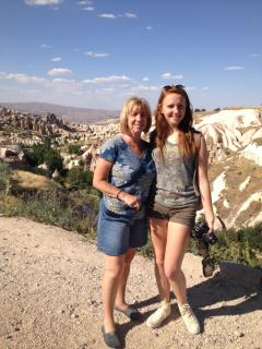 Mia & I (2nd granddaugher) in Cappadocia, Turkey - Jacqueline Stachura
