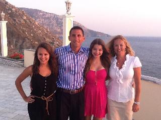 We go on vacations too - this is our family in the Greek Isles - Stephen Katsarelis