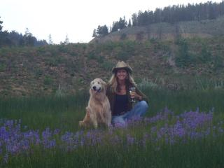 With Zoe in Pines Meadow (July 2012) - Nancy French