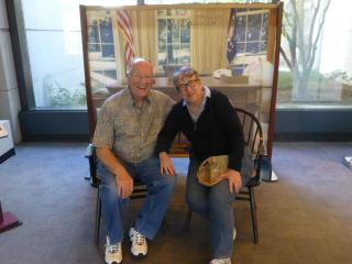 Relaxing and taking in the sights of a Presidential Center: our hobby We love US History AND TUCSON! - Jane Lucal