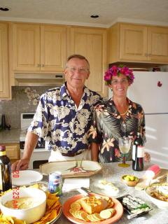 Rod and Florence In Prince Kuhio Kitchen - Rodney and Florence Bergum
